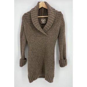 Aritzia TNA Shawl Collar Lambswool Sweater